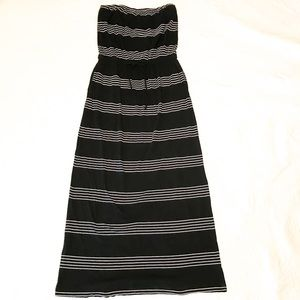 Banana Republic striped strapless maxi dress